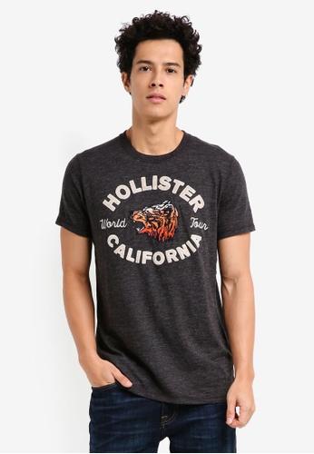 Hollister grey Animal Tech Logo T-Shirt 22090AAD46ED0CGS_1