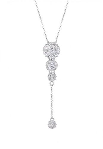Elli Germany silver  Perhiasan Wanita Perak Asli - Silver Y-Chain Zirconia Silver 0A946AC2345414GS_1