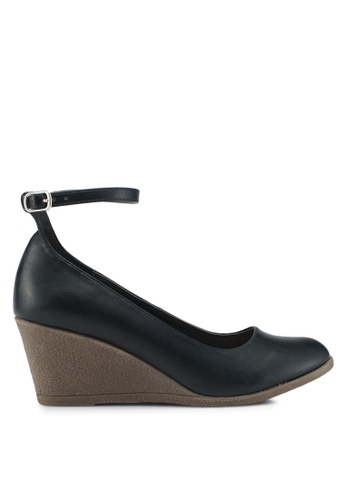 Bata 黑色 繞踝楔型鞋 FA928SHAC3271DGS_1