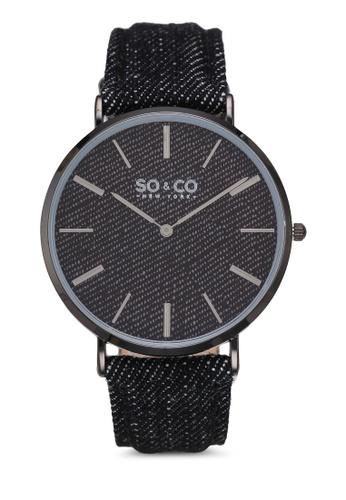 SO&CO black SoHo Watch 5103 80FDEAC29574DFGS_1