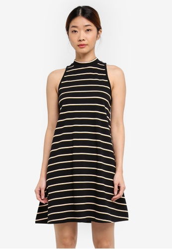 Something Borrowed black Stripe Tank Dress F1B58AA3945D98GS_1