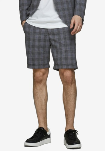 Jack & Jones grey Connor Shorts 0BF40AAB7C2F13GS_1
