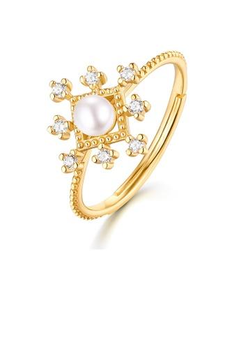 SUNSET 金色 Premium 9K Gold Pearl Ring C2313AC2C902A8GS_1