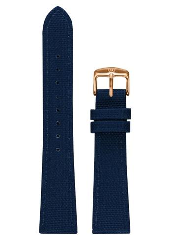 Undone blue Undone Blue Cordura Strap 20mm (Rose Gold Buckle) UN712AC2VEKHHK_1