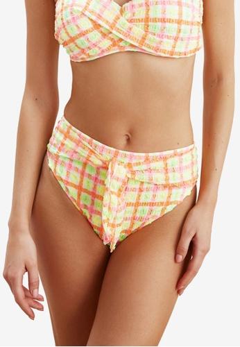 Trendyol multi Plaid Textured Bikini Bottom 30B35US1A4752EGS_1