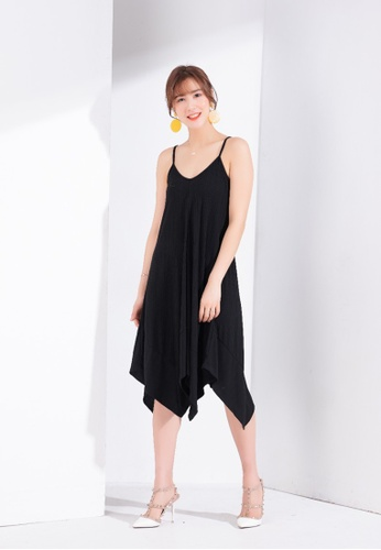 Zafiti black Strappy Knitted Dress 8DAB0AA5C177C9GS_1