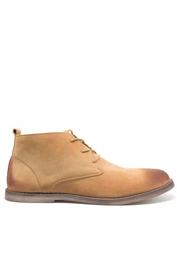 Twenty Eight Shoes 黃色 復古擦色猄皮短靴 MC620 61710SH80BD266GS_1