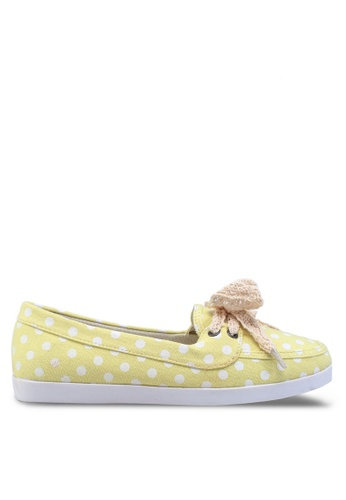 Te Chi-Chi yellow Printed Polka Dot Boat Shoes TE125SH25YUOMY_1