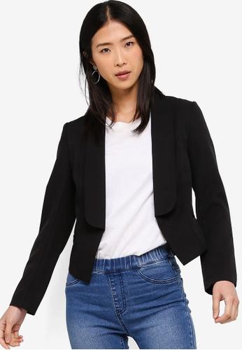 ZALORA BASICS black Basic Tailored Blazer E242FAAB26221FGS_1