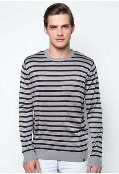 Flat Knit Stripes Pullover