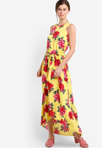 Dorothy Perkins yellow and multi Yellow Floral Maxi Dress DO816AA97HOKMY_1