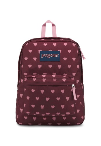 Jansport red Jansport Superbreak Russet Red Bleeding Hearts Backpack 25L 96883AC20F409FGS_1