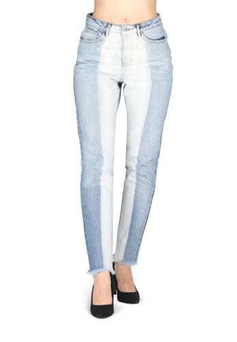 London Rag blue Two Tone Denim Jeans F0A41AA75844DFGS_1