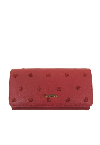 Carlo Rino red Carlo Rino Maroon Love All Around 2-fold Long Wallet 9D763ACCC2117FGS_1