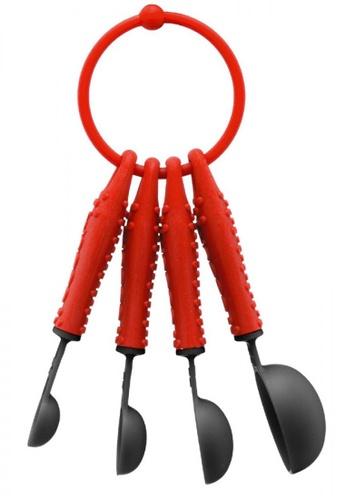 Bodum black and red Bistro Set (5Pcs Measuring Spoons) B5EA8HLCC10E4AGS_1