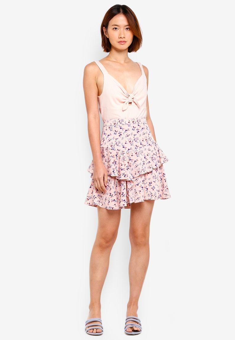 NAIN Floral Floral Pink Skirt Frill Frill Pink NAIN Skirt TqxT14rw