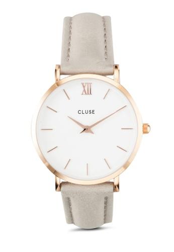 CLUSE grey Minuit Grey CL30002 Watch CL977AC0RDBGMY_1