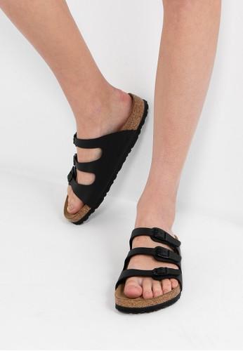 Birkenstock black Florida Birko-Flor Sandals BI090SH0RCOCMY_1