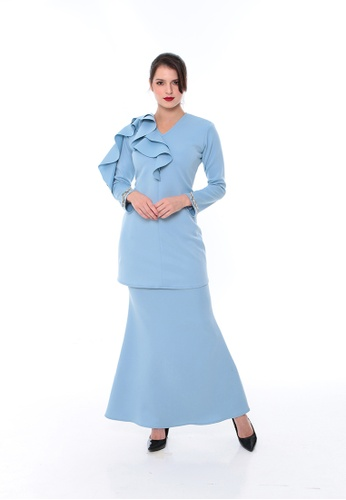 Ruffle kurung from Meraki Atelier in Blue