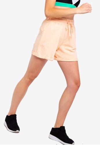 Cotton On Body orange Lifestyle Fleece Shorts DF3FBAA4D53FDCGS_1