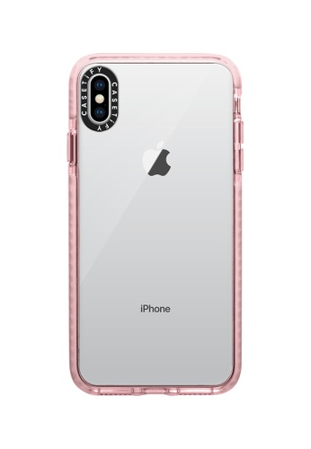 Casetify pink Impact Protective Clear Case for iPhone XS Max – Pink 5955FACF9B3FC7GS_1
