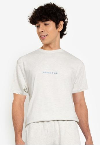 Mennace grey Essential Regular T-Shirt EE5EBAA677C68AGS_1