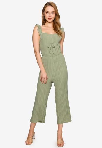 Brave Soul green Pleated Effect Vest Jumpsuit FBB42AA0AEBB7CGS_1