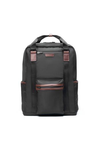 Maverick & Co. black Maverick & Co.Ernest Convertible Nylon Backpack - Black BFC79AC1D9D926GS_1