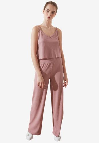 Trendyol pink 2-Piece Loose Top Set A7727AABEE1654GS_1
