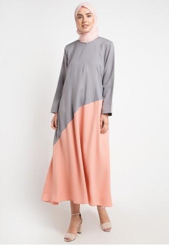 JV Hasanah multi and grey Elliza Multy Colour Dress 9C9FFAAEA937CDGS_1