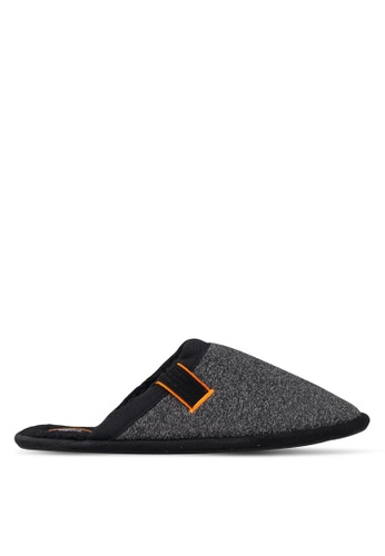 Superdry black and grey Classic Mule Slippers 353C1SH0D521D3GS_1