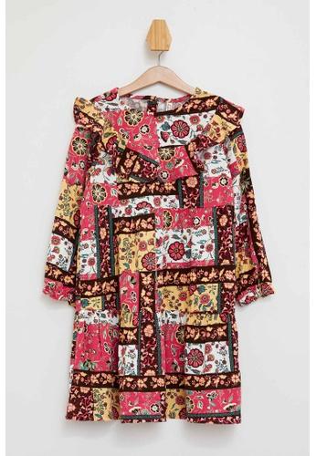 DeFacto beige Girl Dress & Skirt Woven Dress 14BB7KAD84A229GS_1