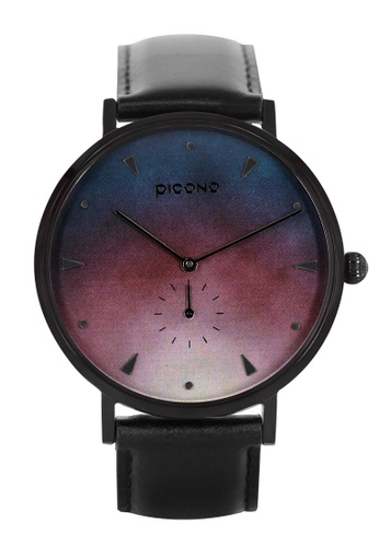 PICONO Watches multi A Week Collection Black Leather Strap Watch D8F20AC6B4E502GS_1