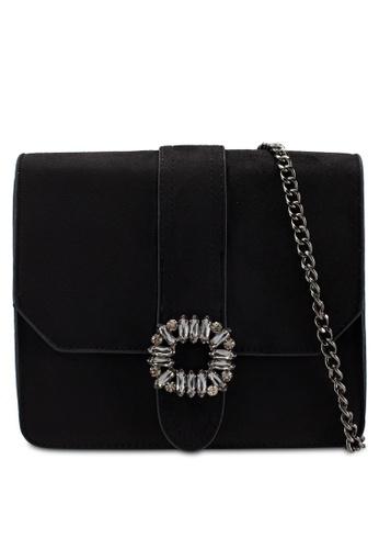 db7c9172f0 Dorothy Perkins black Black Embellished Buckle Cross Body Bag  866EEAC3922FB5GS 1
