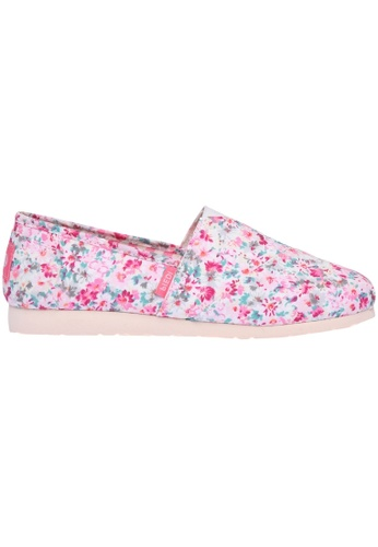 paperplanes pink Paperplanes-1325 Elegant Flower Pattern Canvas Slip-Ons Shoes US Women Size PA355SH08QBRSG_1