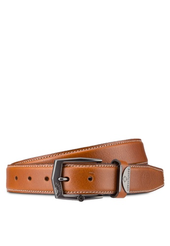 Lumberjacks brown Lumberjacks 35mm Belt LU545AC34MRPMY_1