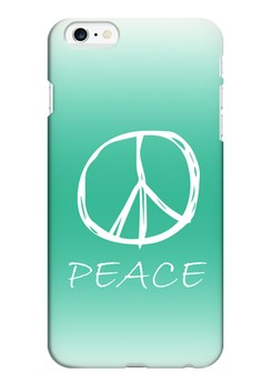 Peace Sign Hard Case for iPhone 6 plus