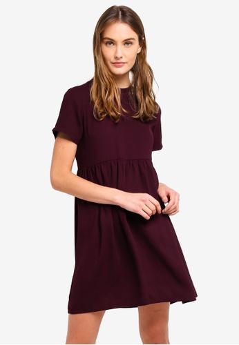 ZALORA BASICS purple Basic Babydoll Dress DE963AA7C3BA7AGS_1