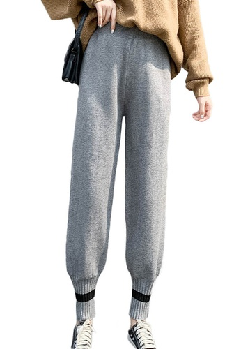 Sunnydaysweety grey High Waist Loose-Cut Harem Pants A120218GY 75B11AA699A7BEGS_1