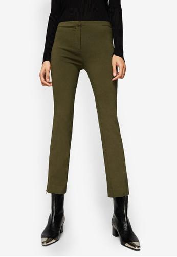 Mango beige Zipped Straight Trousers 496EFAA24A9D50GS_1