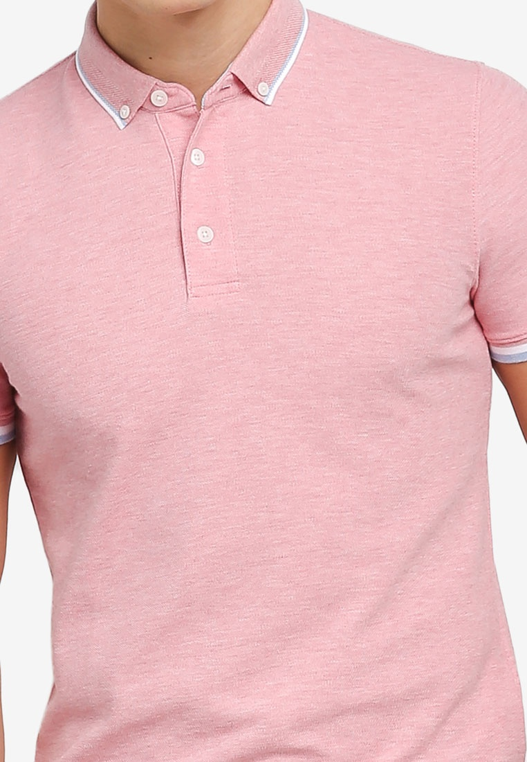 Blush Tipping Polo G2000 Pearl 2 Tone Shirt Colllar q0RRna