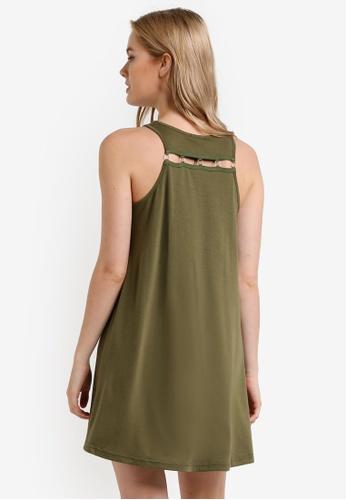 Something Borrowed green Eyelet Detail Swing Dress 7C529AA5E34F4DGS_1