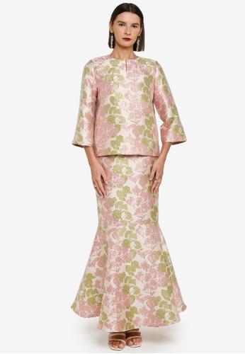Zalia 粉紅色 and 綠色 Floral Kurung Kedah 4CC59AAAC7C511GS_1