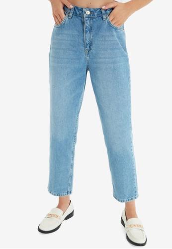 Trendyol blue Straight Leg Jeans 78615AA8006B5DGS_1