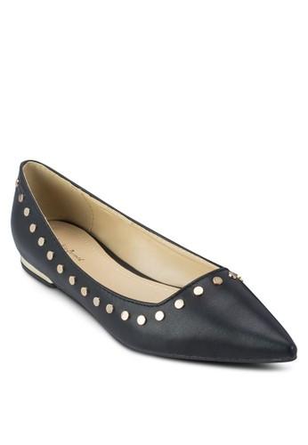 鉚釘邊飾尖頭平底zalora 男鞋 評價鞋, 女鞋, 芭蕾平底鞋