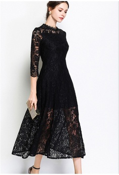 729443eea Crystal Korea Fashion Spring New Slim Elegant Lace Dress HK$ 370.00. Sizes  S M L XL