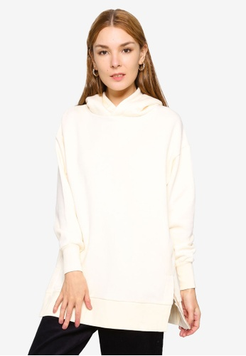 GLOBAL WORK white Casual Knit Hoodie D7B3DAA64ABDFFGS_1