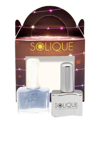 Solique blue Solique 2In1 Set (Robin Instant Gel Polish + Gel Top Coat In A Gift Box) E29F5BE3DD310DGS_1