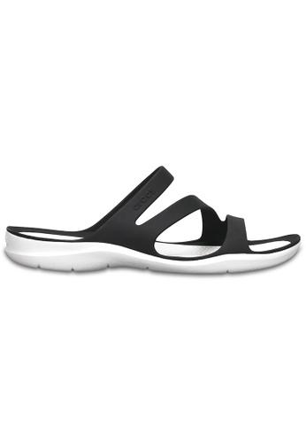 Crocs black Women's Swiftwater Sandal Blk/Whi CR883SH40MNNMY_1