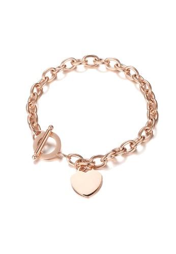 CELOVIS gold CELOVIS - Adora Heart Tag Pendant Bracelet in Rose Gold BE38BAC264A857GS_1